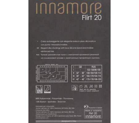 Чулки с кружевной резинкой INNAMORE FLIRT 20 auto