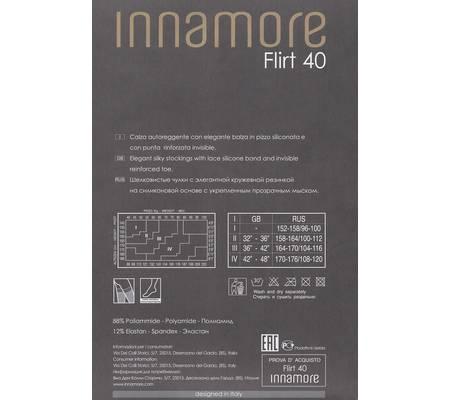 Чулки с кружевной резинкой INNAMORE FLIRT 40 auto