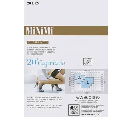 Чулки с кружевной резинкой MINIMI CAPRICCIO 20 auto