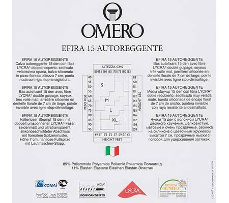 Чулки OMERO EFIRA 15 Чулки