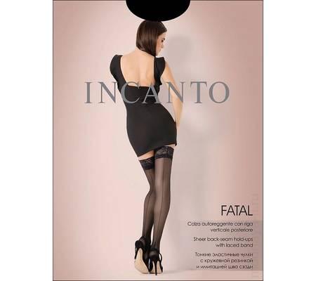 Чулки с имитацией шва INCANTO FATAL 20 autoreggente